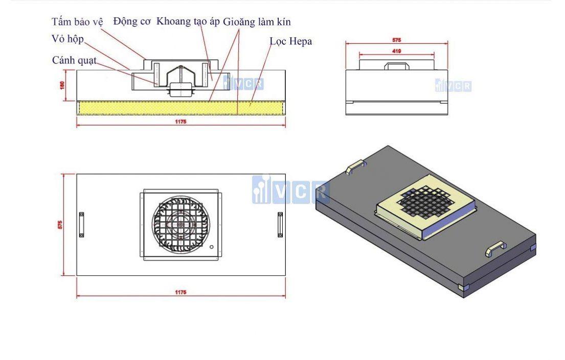 bản vẽ kỹ thuật FFU VCR 1175