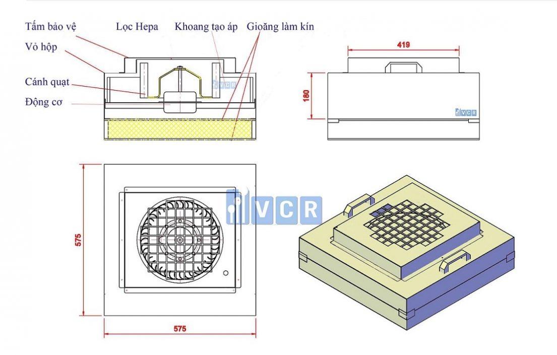 Bản vẽ kỹ thuật FFU VCR 575